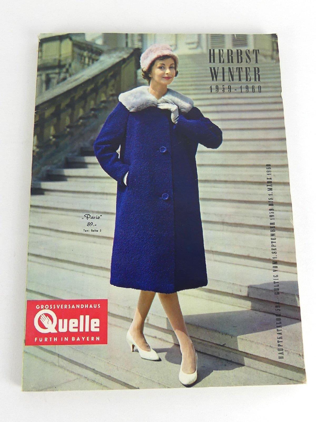 9a75646d9da99a QUELLE Katalog Herbst-Winter 1959-1960 Modekatalog Prospekt