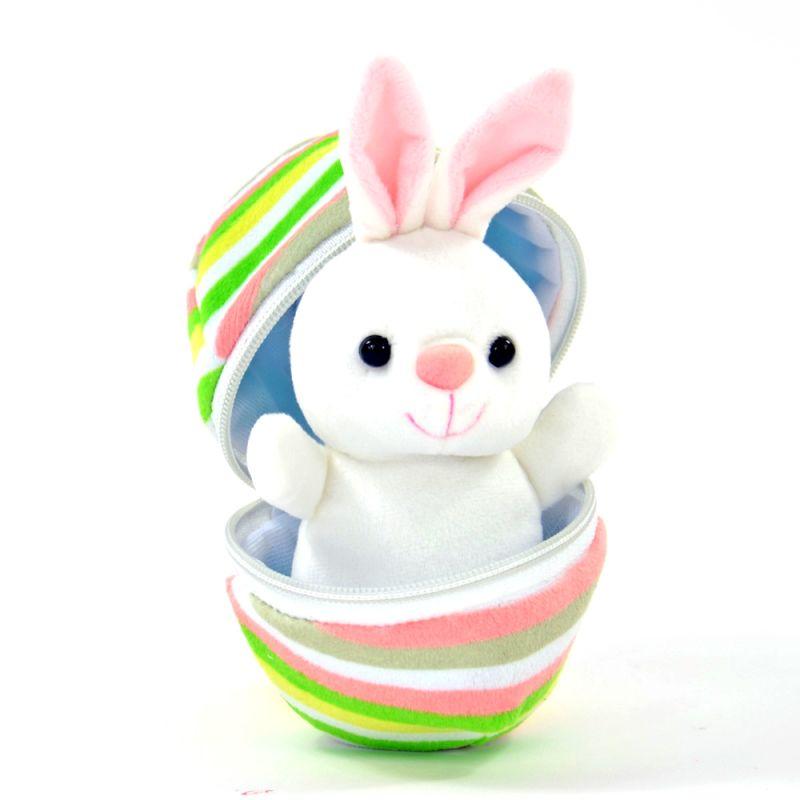 1 Stück Süß Mini Hase Plüsch Schlüsselanhänger Weich Dekoration Spielzug Ostern