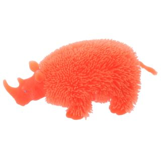 3 x LED Fluffy Nashorn knautschbar neon, orange, lila
