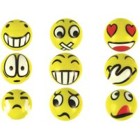 6 x Softball Smiley Grimassen Anti Stressball 6 cm