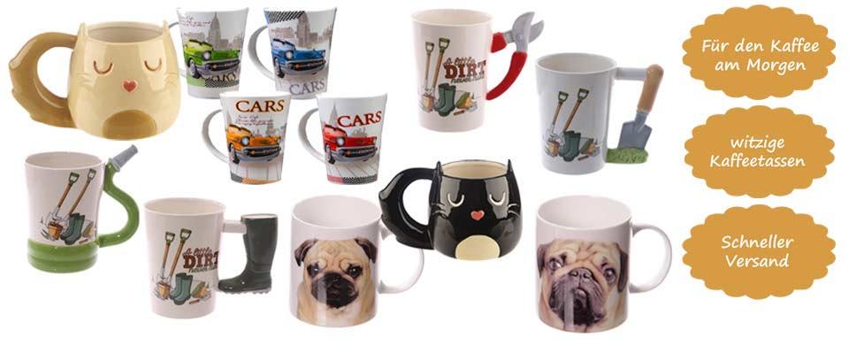 Kaffee am Morgen: witzige Kaffeetassen